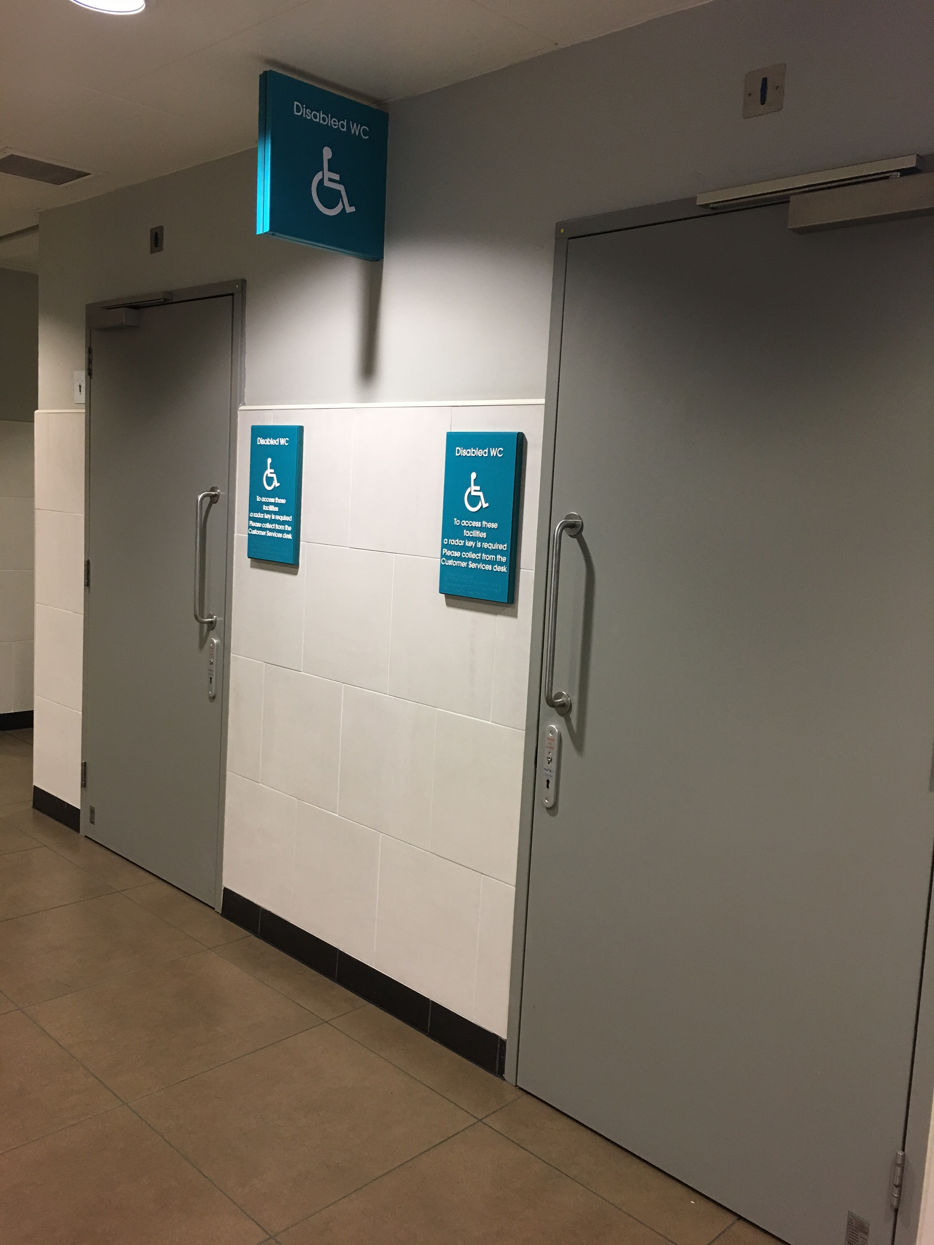 Gloucester Quays Disabled Toilets